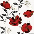 Tapéta simplex Essays fehér-piros