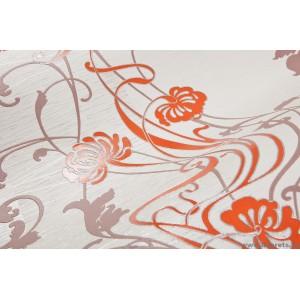 Tapéta vinyl Tündér virágos narancssárga